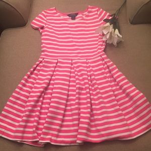 Polo Dress pink and white